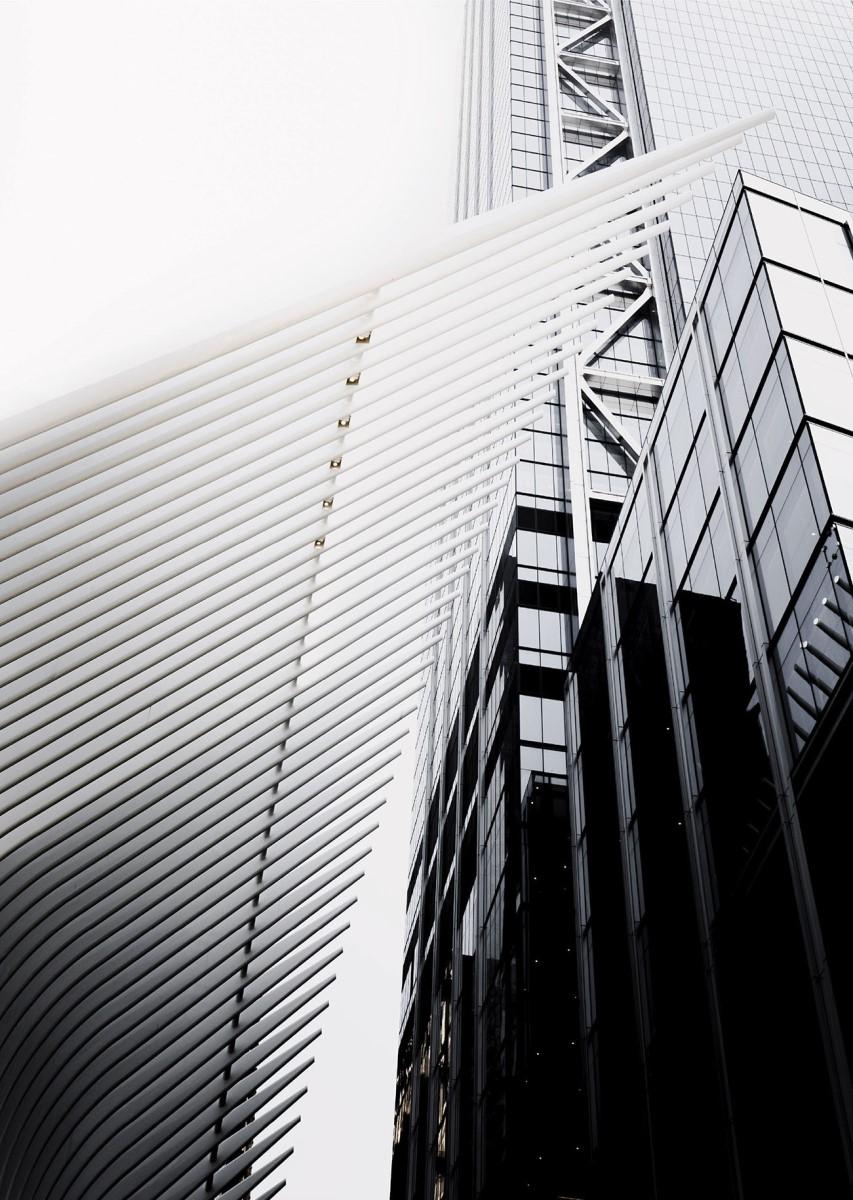 Industriel - Gratte ciel en noir et blanc