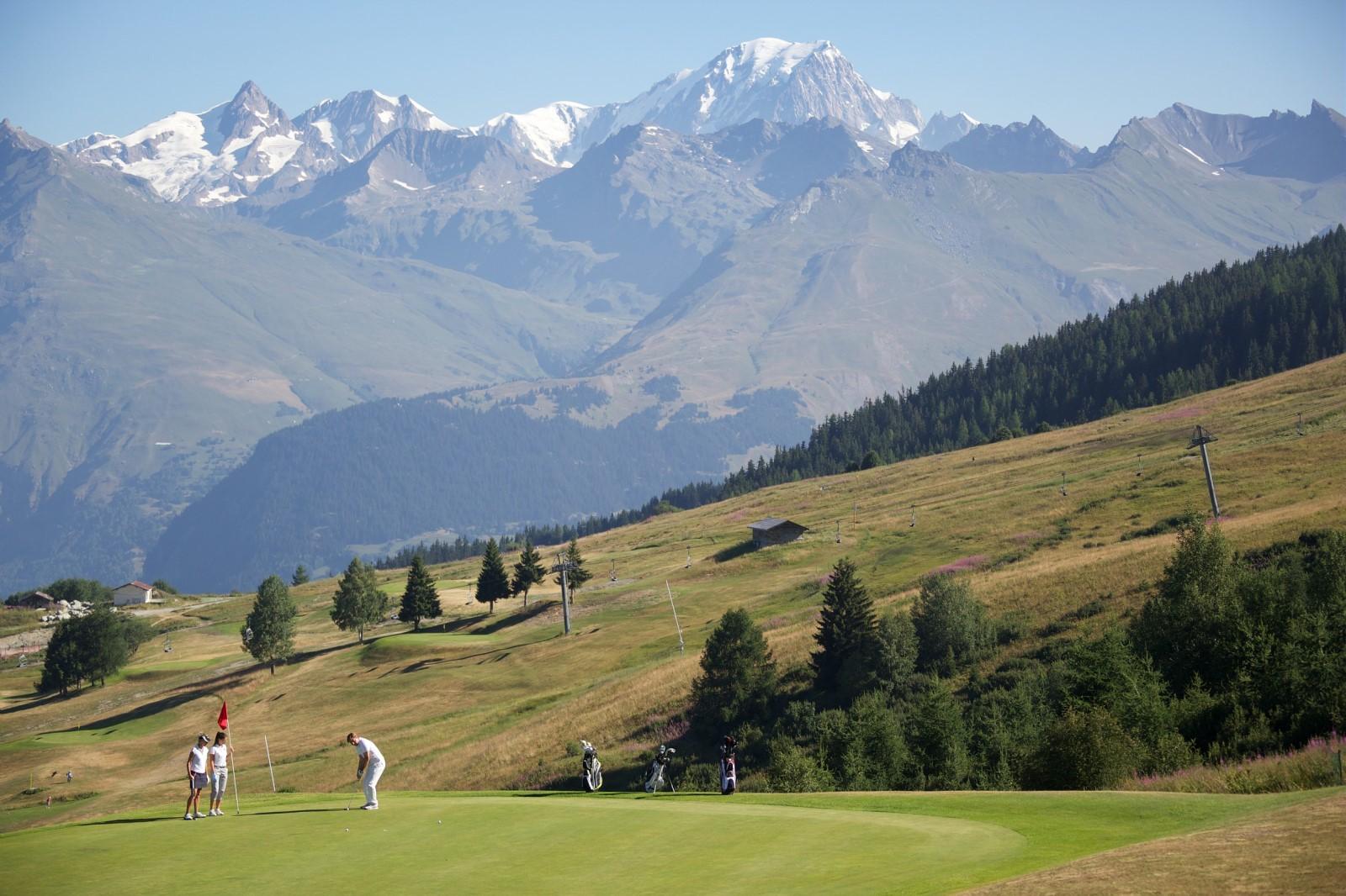 Golf aux Arcs, en Savoie