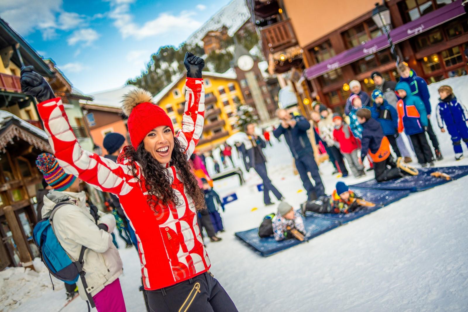Animations pour toute la famille en station de ski de luxe, en Savoie