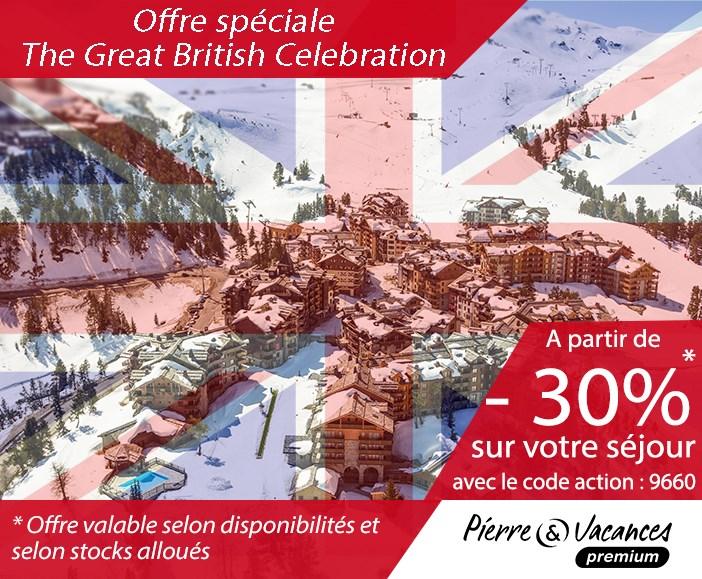 Offre The Great British Celebration by Pierre et Vacances Premium