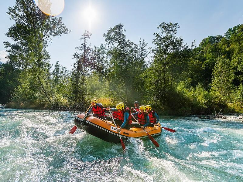 kayaking in Les Arcs
