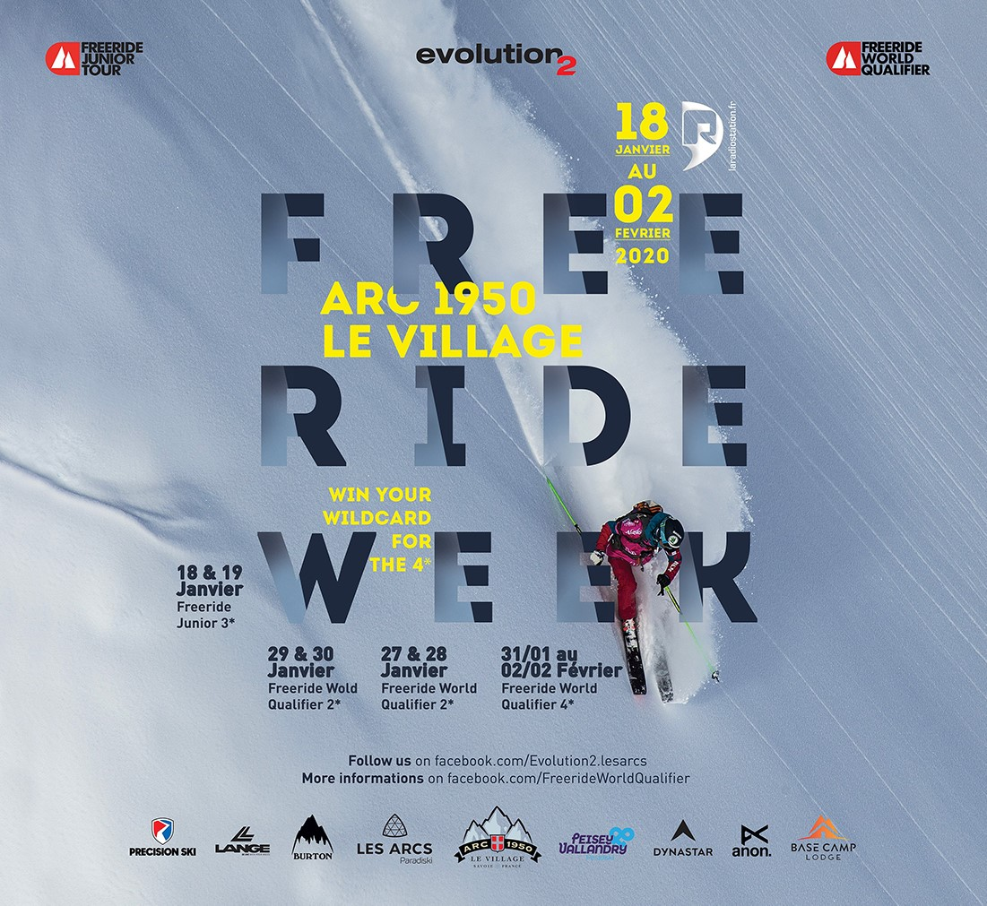 The Freeride World Qualifier in Arc 1950