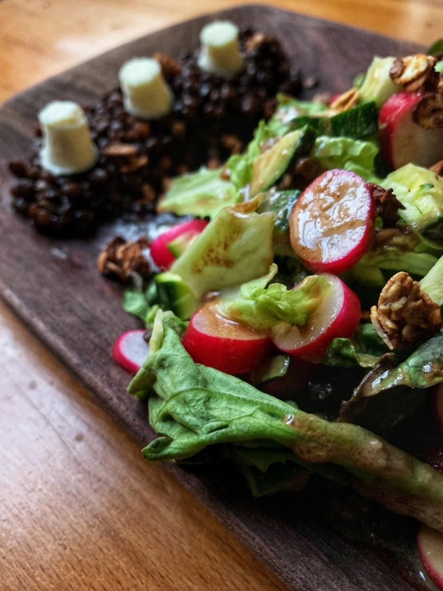 Recette - Salade de lentilles au chèvre frais