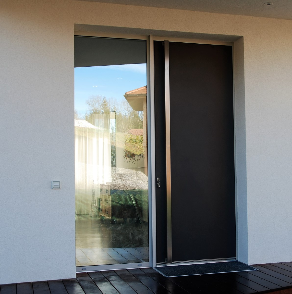 Porte Entree Vitree Opaque porte d'entrée - covermetal