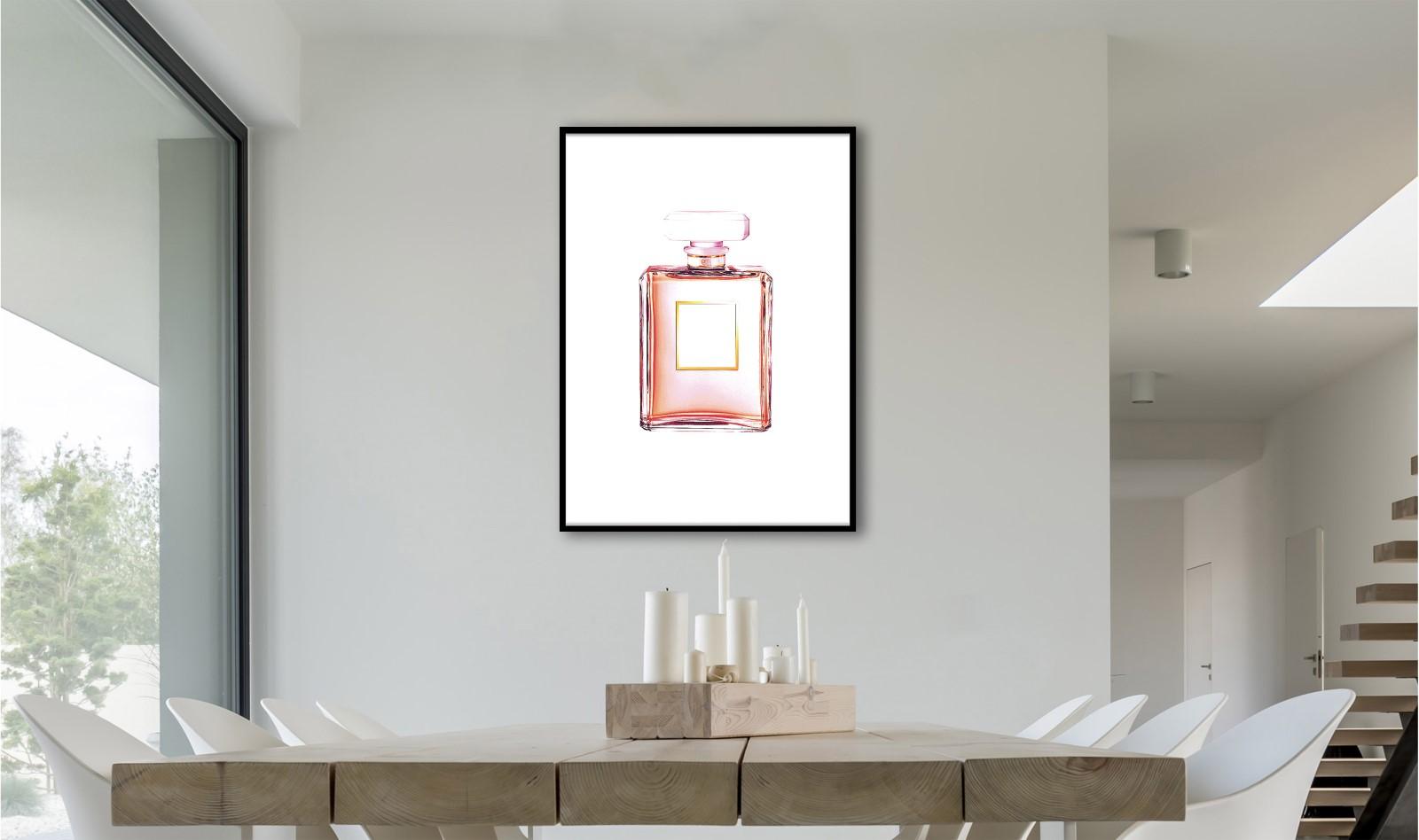 Affiche sous cadre - Salle de bain - Parfum