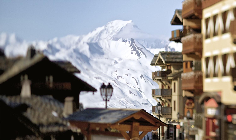 Vue des Alpes et du Mont-Blanc à Arc 1950