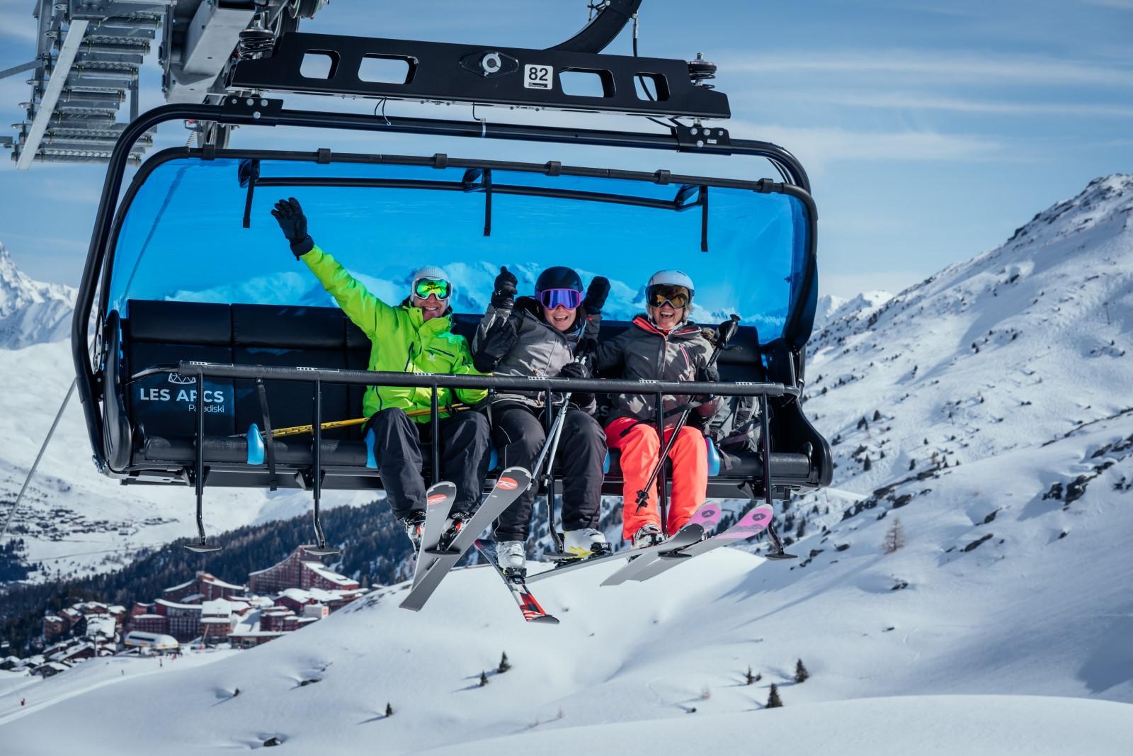 skier aux Arcs – Paradiski