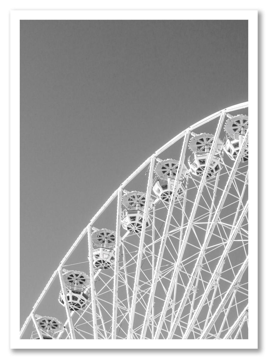 Salle de bain - La grande roue noir et blanc
