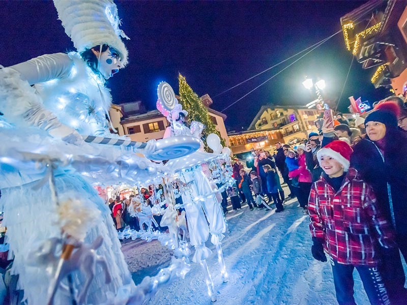 Christmas in Arc 1950 Le Village l Santa Claus