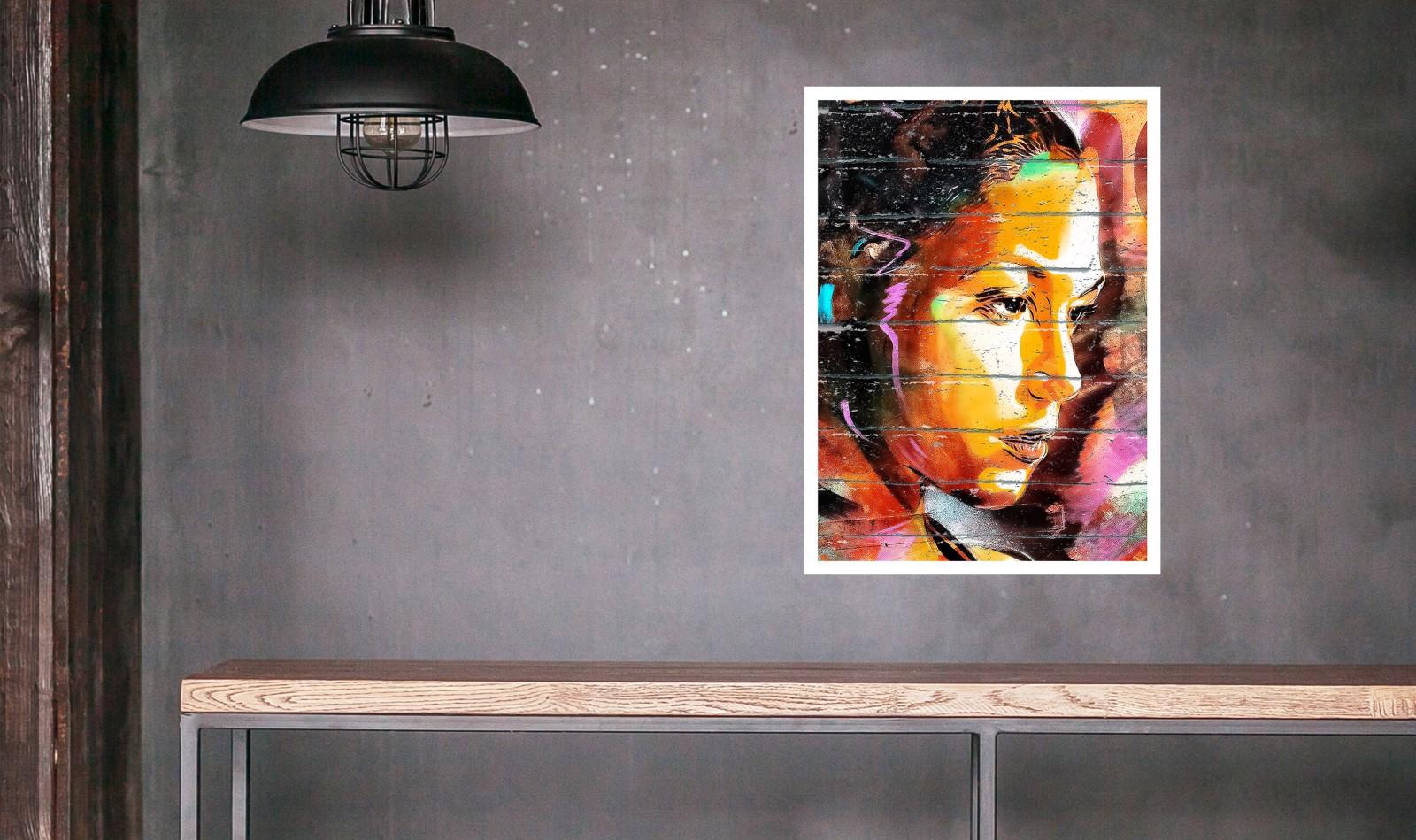 affiche et poster street art - determination regard