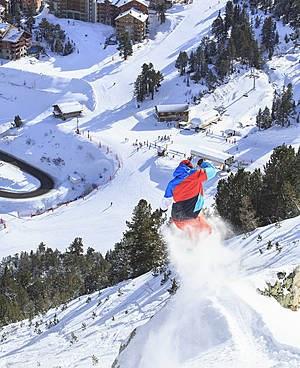 Snow park of Les Arcs