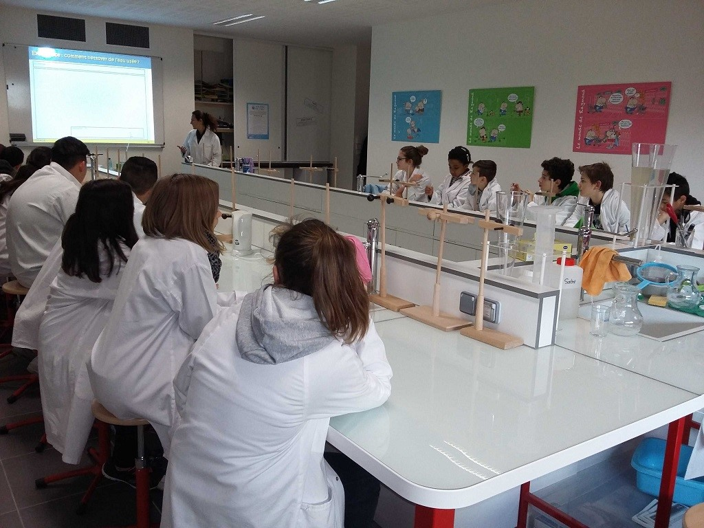 cisalb - Préparation des élèves au laboratoire des eaux