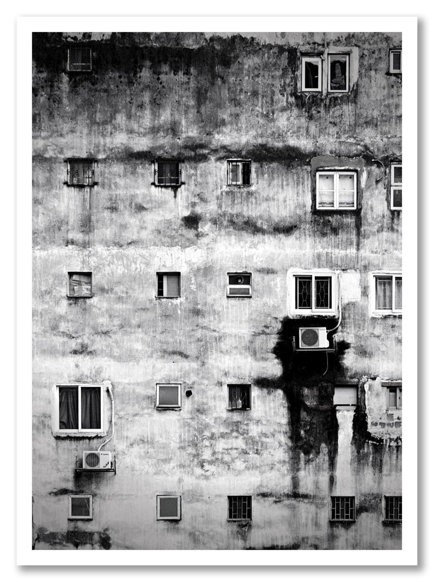 Architecture - Mur Dégradé noir et blanc