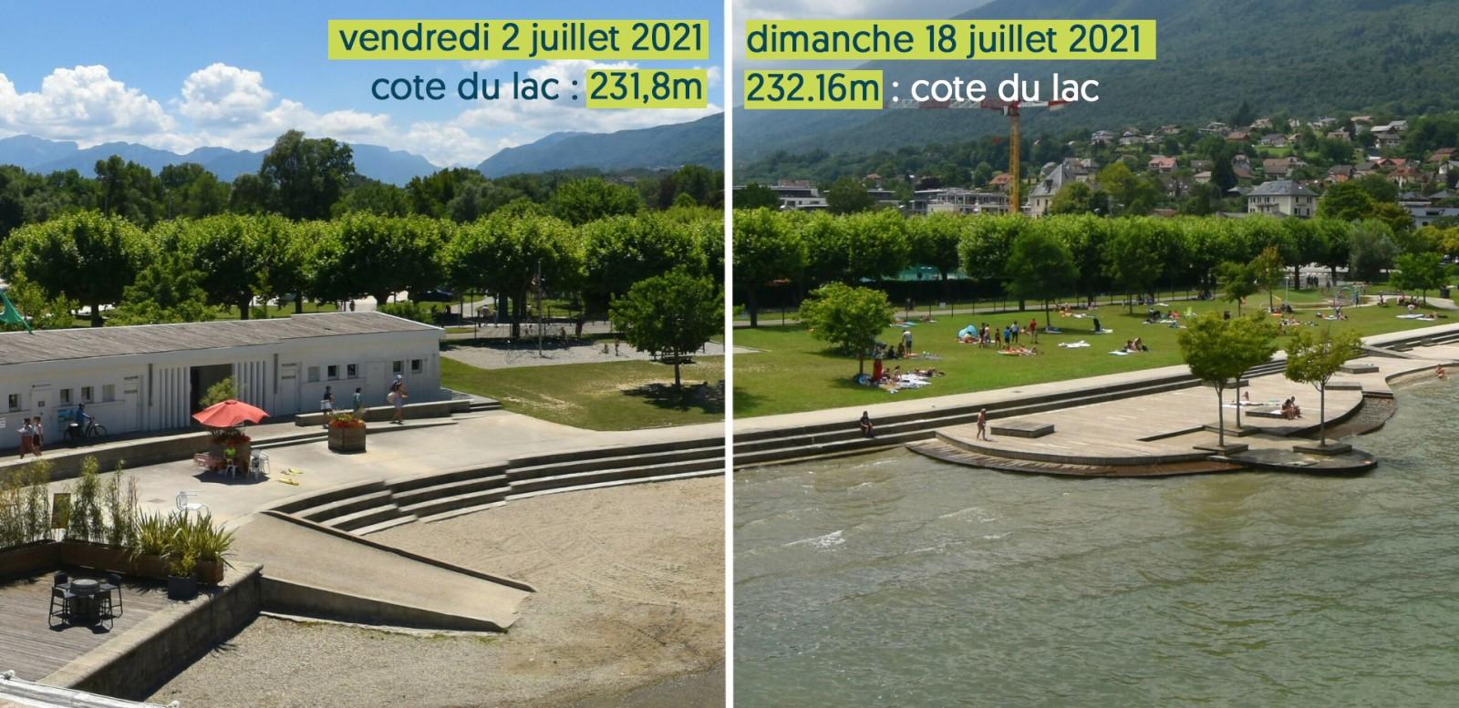 Photos prises par la webcam d'Aix-les-Bains Riviera des Alpes, au Bourget-du-Lac