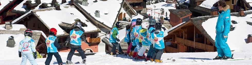 Cours de ski à Arc 1950 avec l'école de ski Spirit