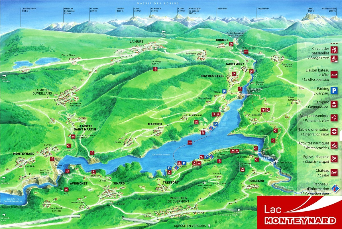 Plan - Lac Monteynard