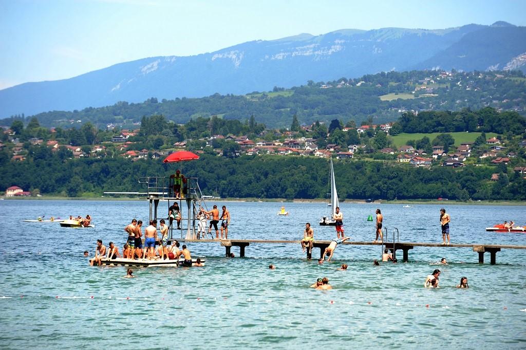La plage du Bourget-du-Lac