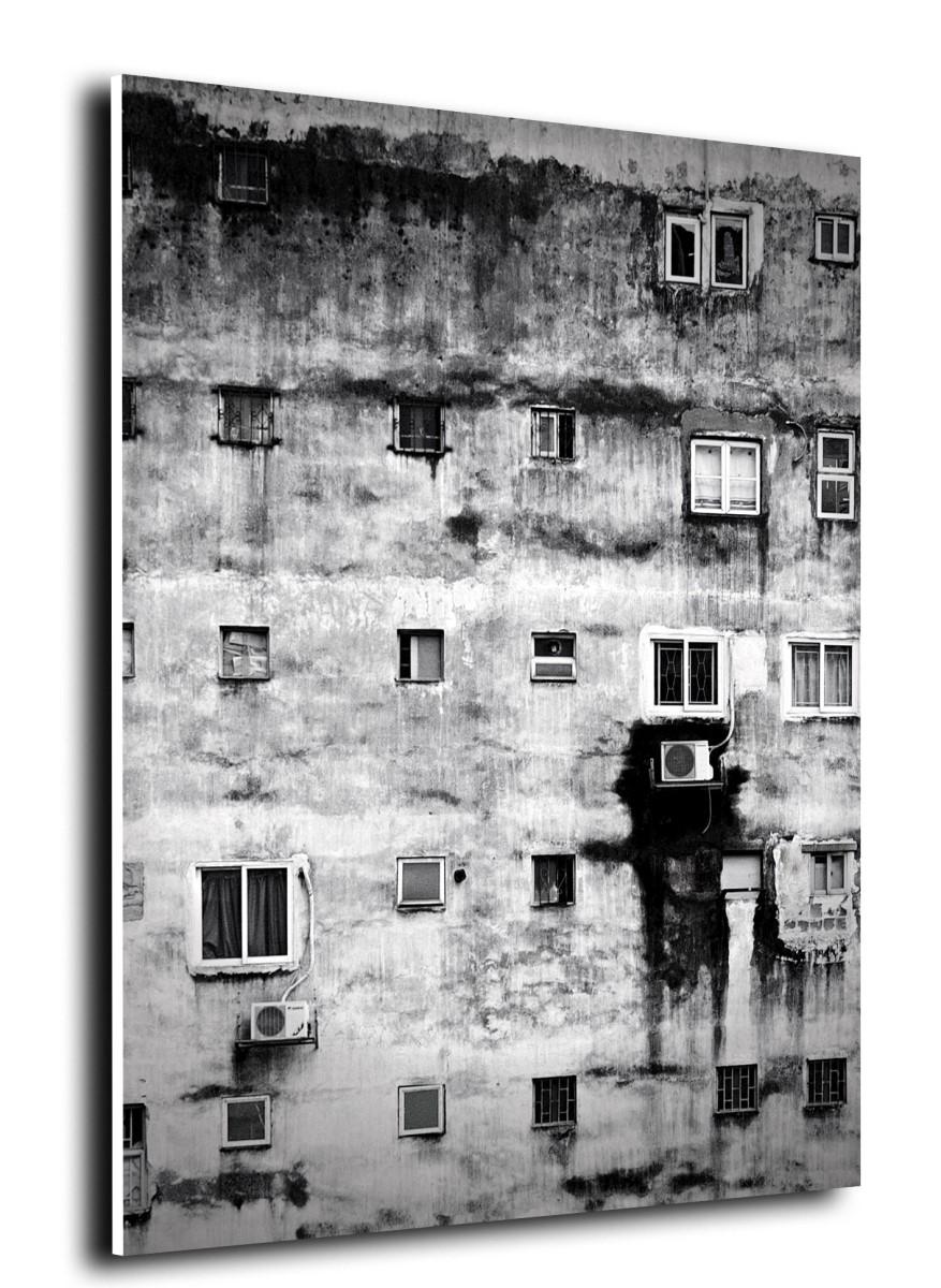 Tableau Salle De Bain tableau pvc - salle de bain - mur dégradé noir et blanc