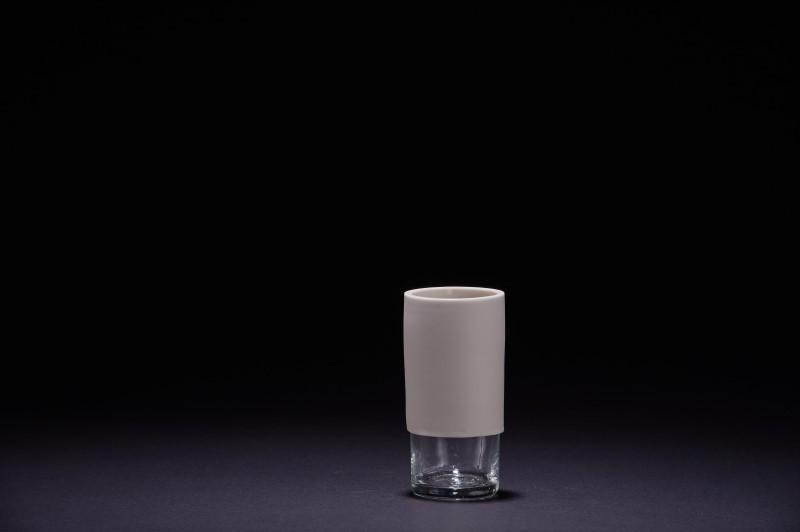 Vase en porcelaine et verre vintage 8