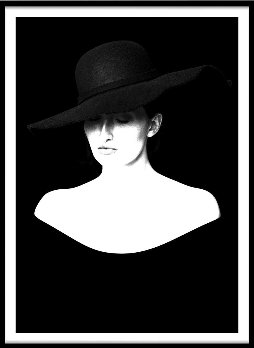 Portrait - Femme chapeau