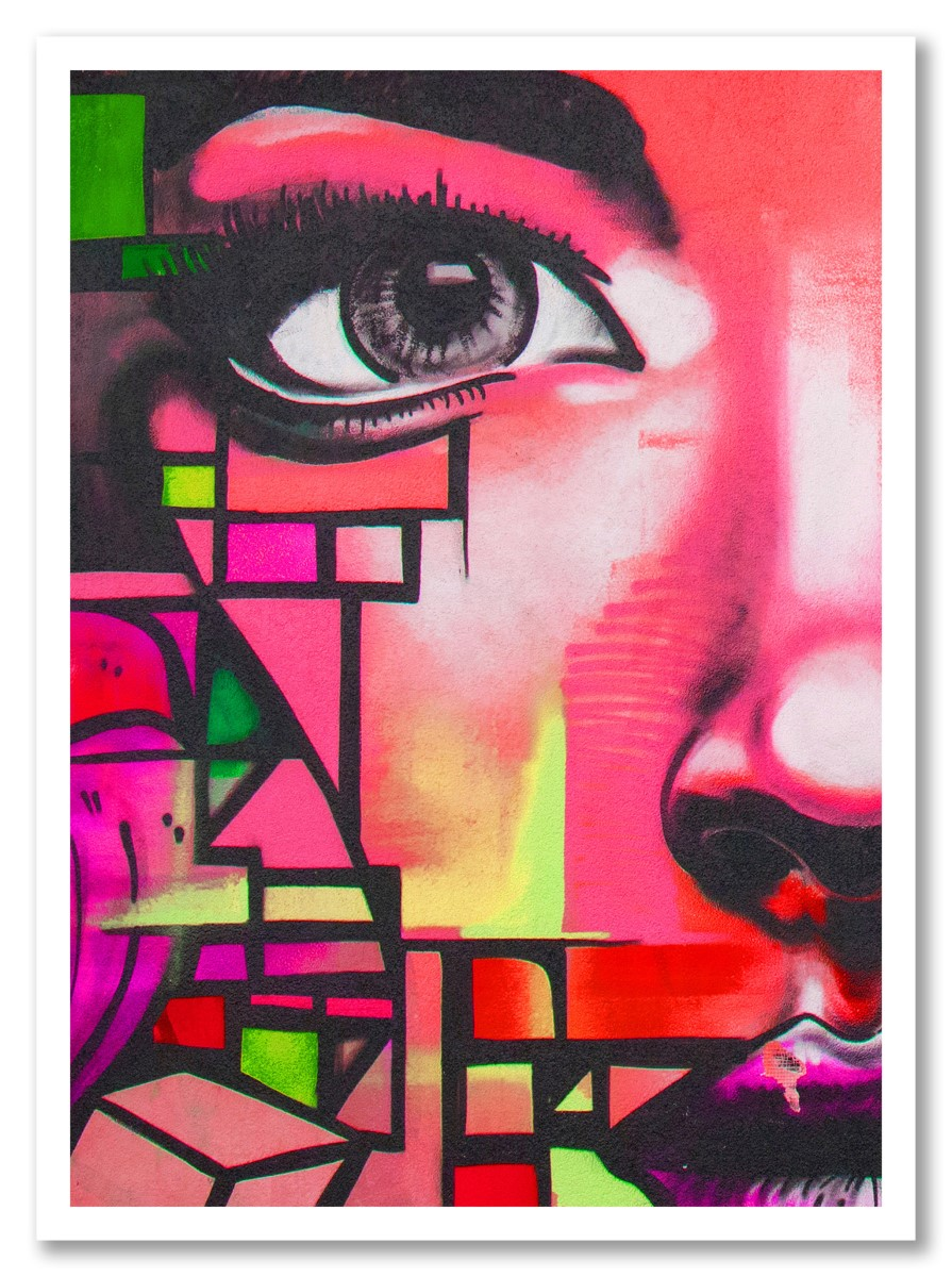 Street Art - Regard Rose