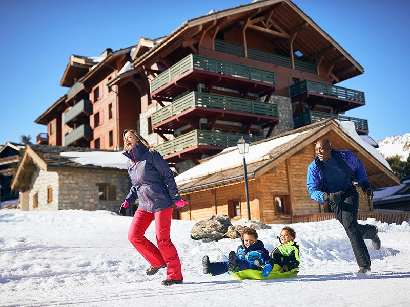 Children are kings in Arc 1950, the family ski resort in Les Arcs