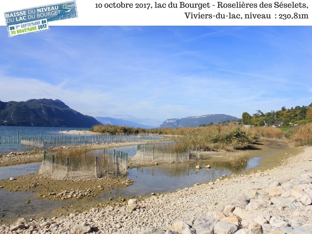 La baisse du lac du Bourget en 2017