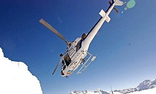 Helicopter initiation - Les Arcs