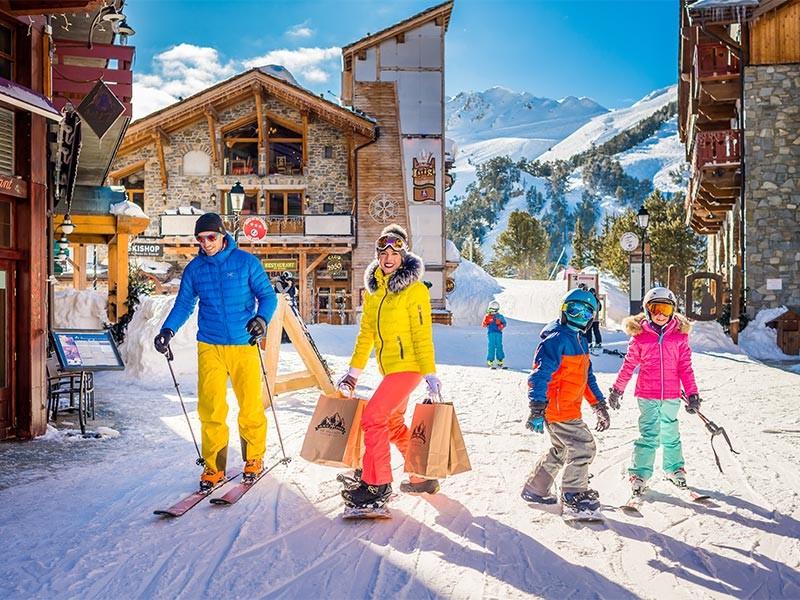 Séjour au ski en famille dans les Alpes