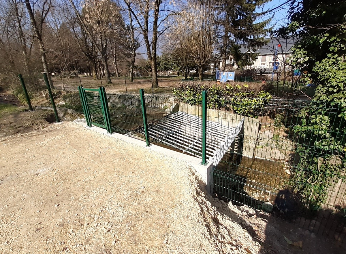 La Curtine et le parc Henri Dunant - La Motte-Servolex