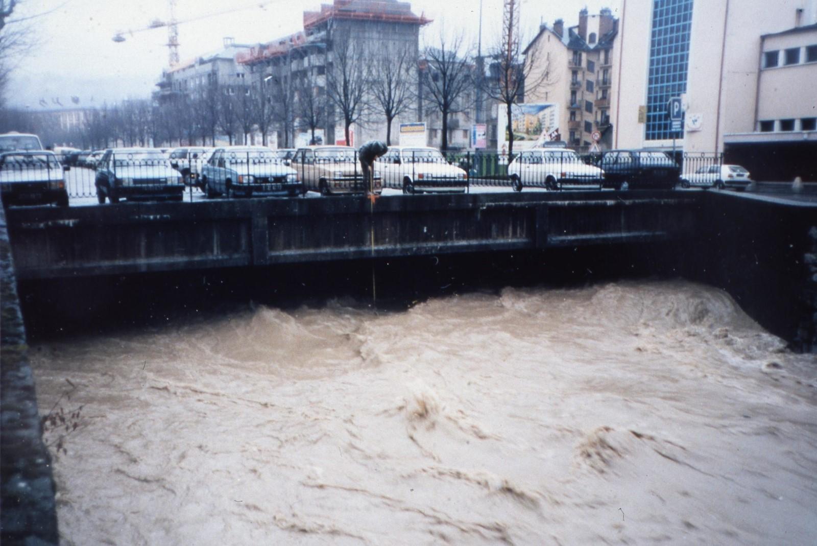 La Leysse en février 1990 à Chambéry