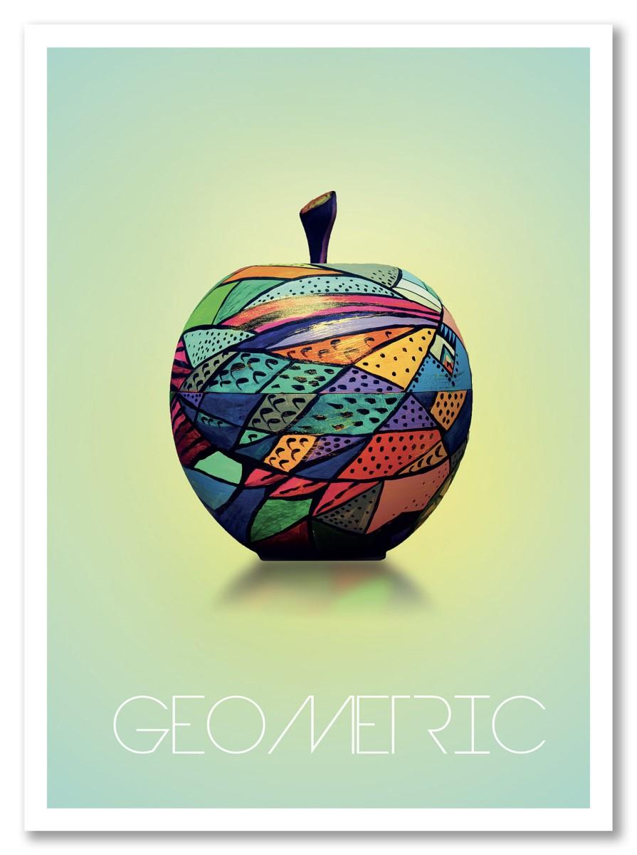 Fruits - Pomme Geometric couleur