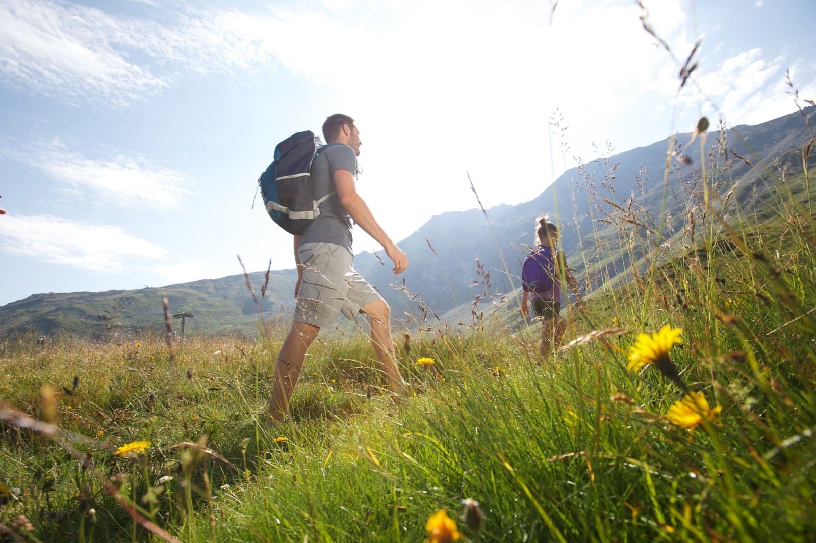 Hiking in les arcs arc 1950 luxury stay mountain