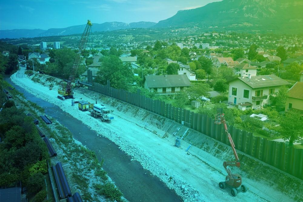 Sierroz ou Leysse : des chantiers de restauration et de protection contre les inondations