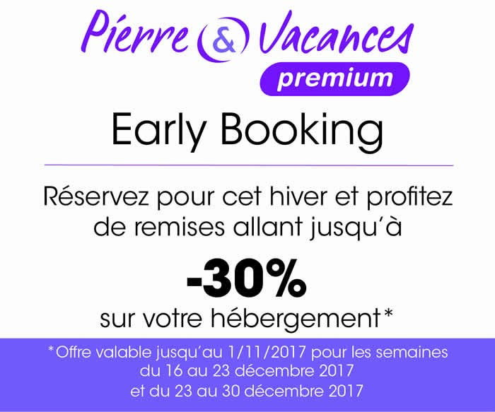 early booking Pierre et Vacances