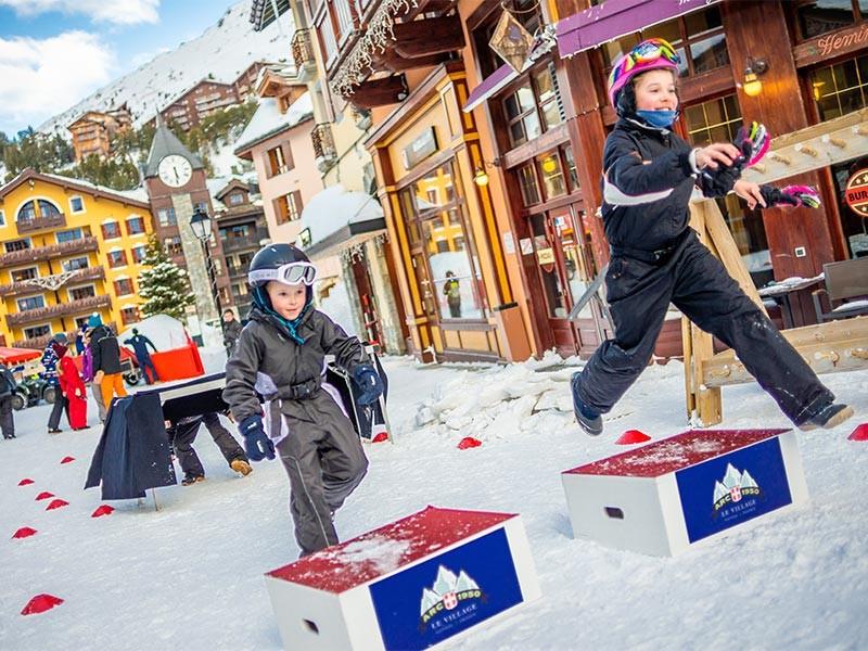 animations ski vacances à la montagne famille activités