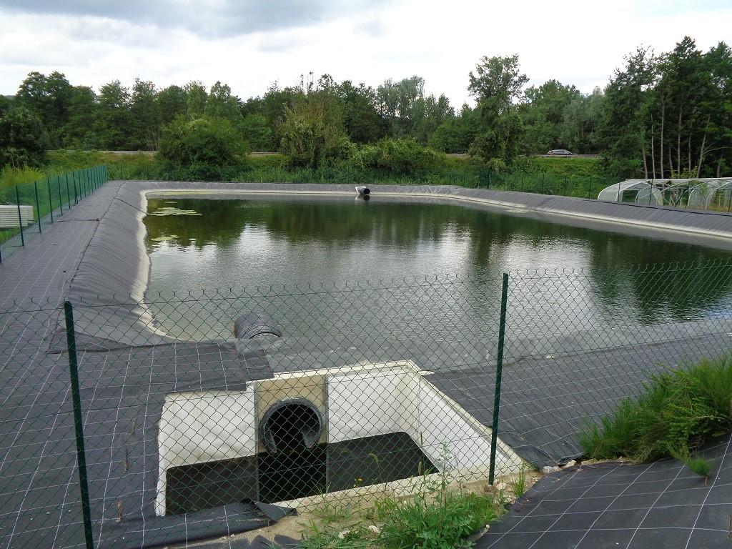 Bassin de rétention des eaux de pluie