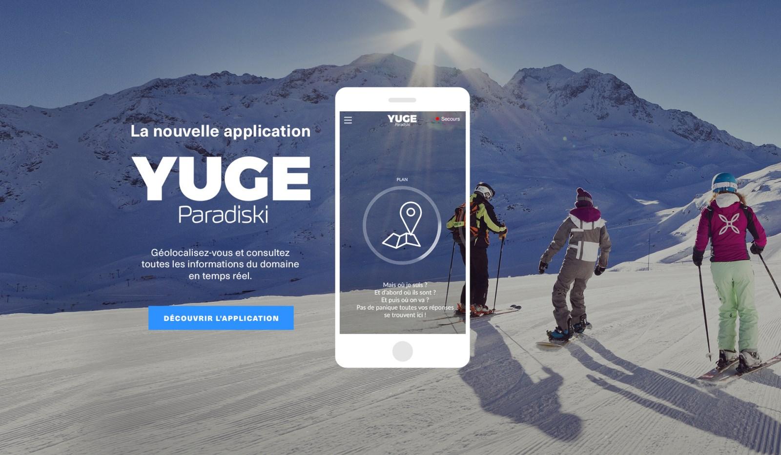 Le domaine skiable Paradiski dans votre poche