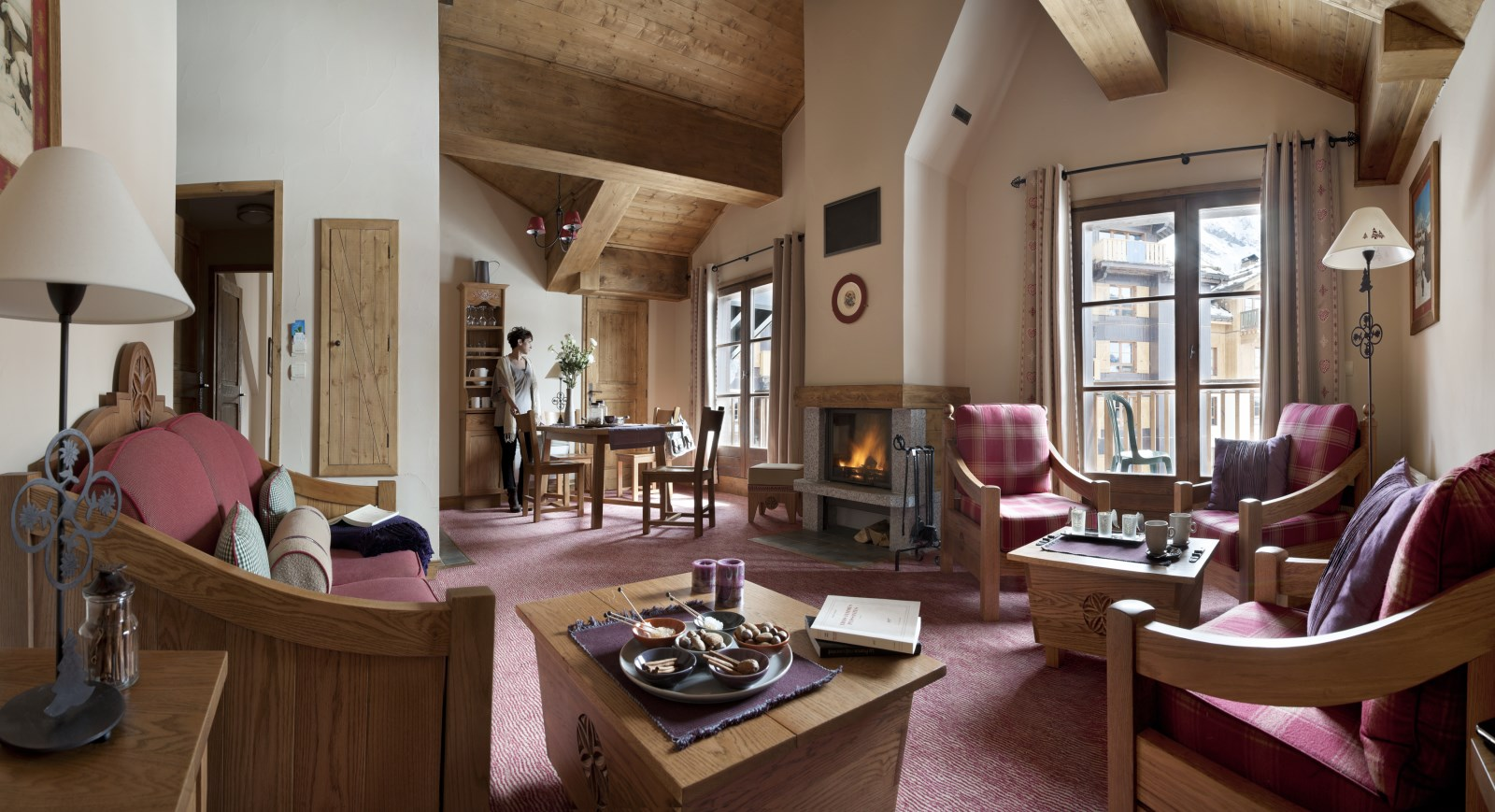 Hotel 5 etoiles montagne hotel residence luxe ski les arcs savoie arc 1950 - Residence de luxe montagne locati ...
