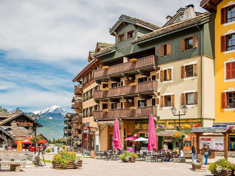 Vue sur le Mont Blanc depuis le vilage