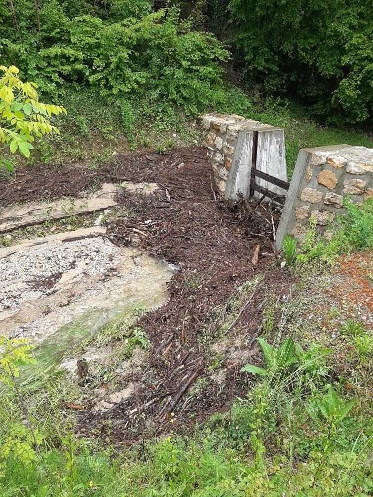 Plage de dépôts du ruisseau du Saumont
