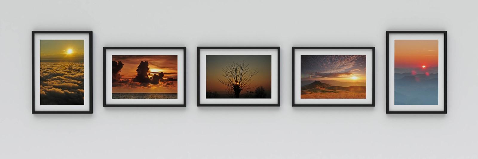 Choisir une disposition alignée des cadres deco et tableaux