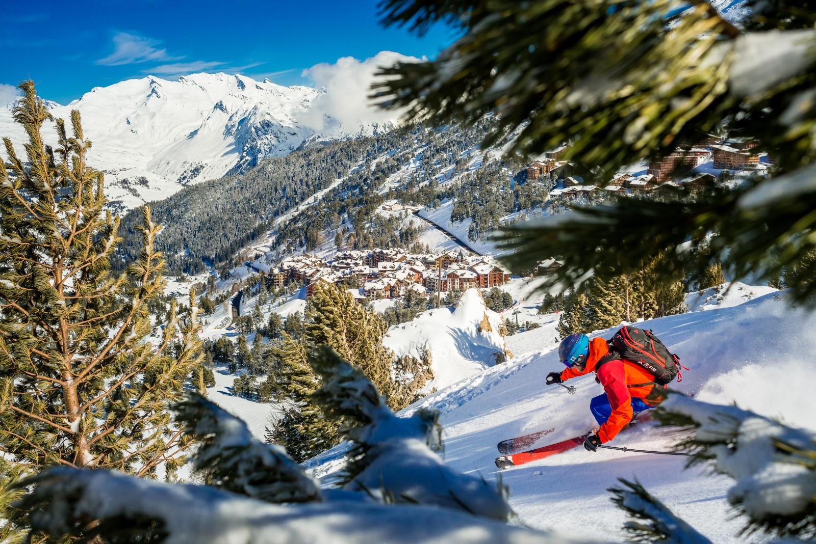 ski in Les Arcs