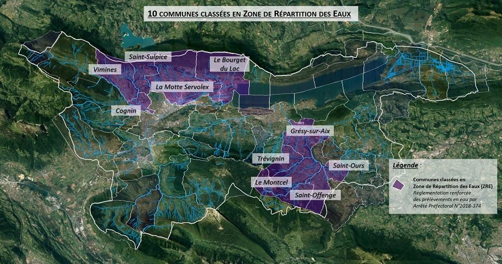 10 communes classées en ZRE