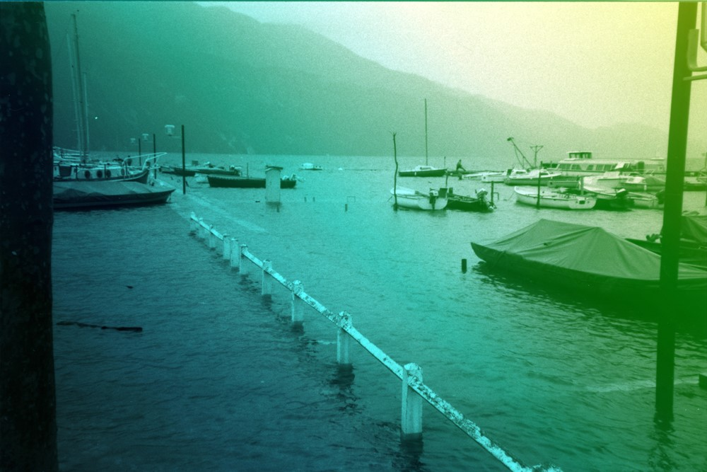 archives municipales d'Aix les Bains - inondation du lac
