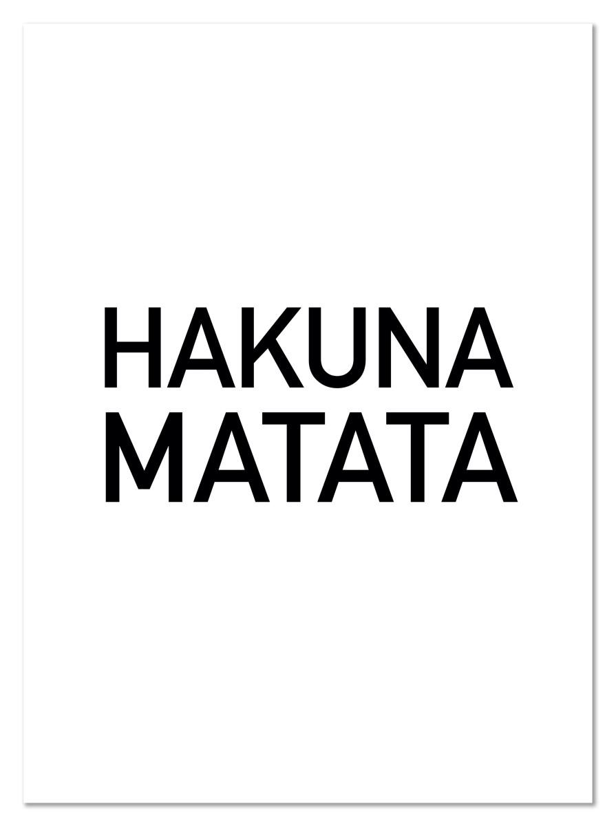Ecriture - Hakuna Matata
