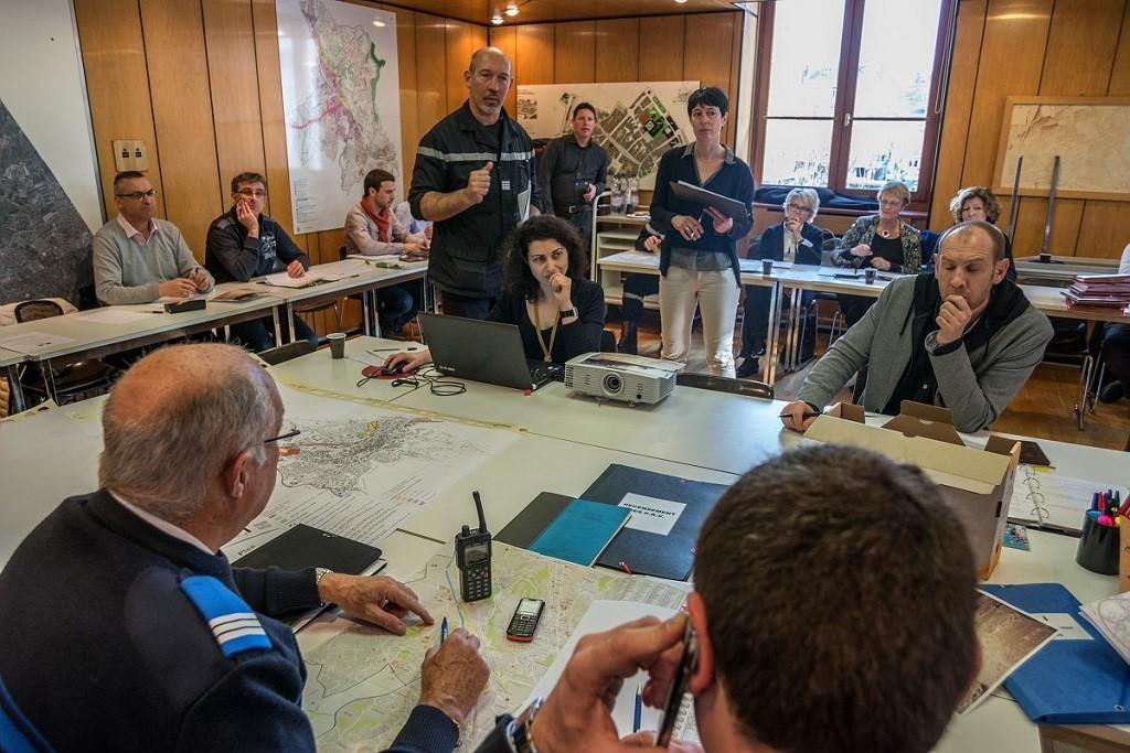 Exercice de gestion de crise inondation à Grand Chambéry en 2016 – Grand Chambéry