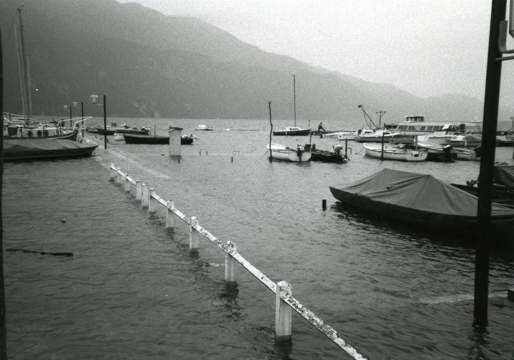 Crue du lac du Bourget en 1990