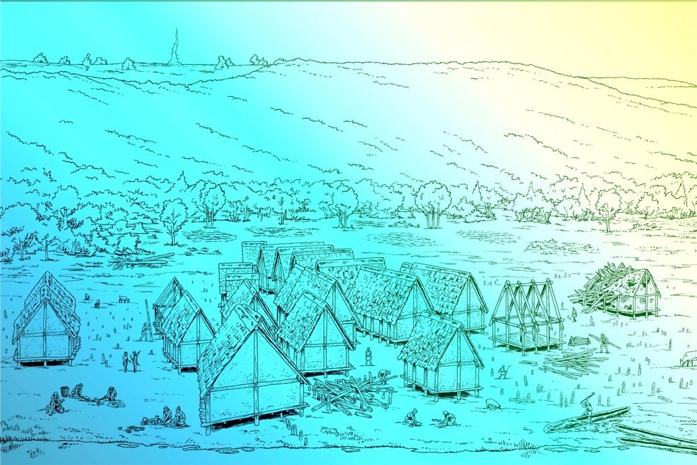 Villages lacustres à l'âge du Bronze -