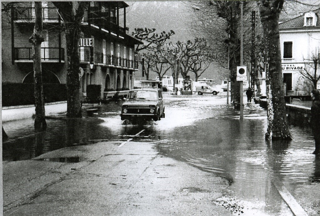 Inondations à Aix-les-Bains